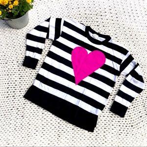 Kate Spade Black & White Stripe 💗 Sweater Size L